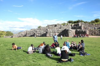 A moment of rest at Saqsaywaman. (Photo: J.Lambert)