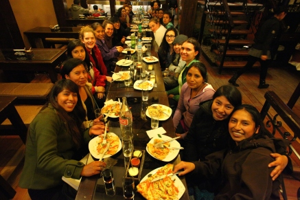 Our friends from Peruvian promise join us for dinner! (Photo: J.Lambert)