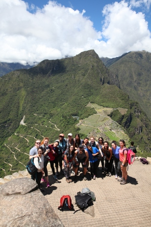 Team Peru at the top of Huaynapicchu! (Photo: J.Lambert)