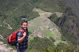 Andrea at the summit of Huaynapicchu! (Photo: J.Lambert)