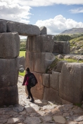 A stone doorway at Saqsaywaman.