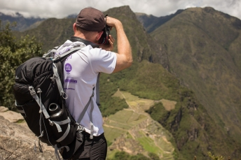 Mr. Lambert gets a bird's eye view of Machu Picchu.
